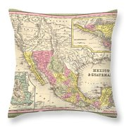 Map Of Mexico Throw Pillow by Gary Grayson