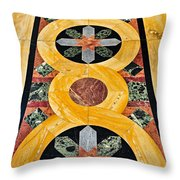 Marble Floor In Orthodox Church Throw Pillow by Elena Elisseeva