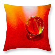 Marble Shine Throw Pillow by Debbie Portwood