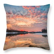 Marble Sky II Throw Pillow by Davorin Mance