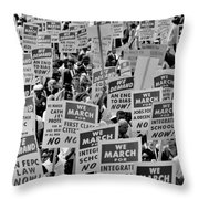 March On Washington Throw Pillow by Benjamin Yeager