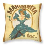 Margarita Salt On The Rocks Throw Pillow by Debbie DeWitt