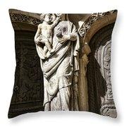 Maria Gratia Plena Throw Pillow by Olivier Le Queinec