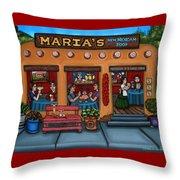 Maria's New Mexican Restaurant Throw Pillow by Victoria De Almeida