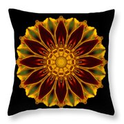 Marigold Flower Mandala Throw Pillow by David J Bookbinder