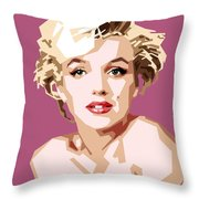 Marilyn Throw Pillow by Douglas Simonson