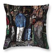 Market Busker 7 Throw Pillow by Tim Allen