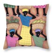 Market Day Throw Pillow by Sarah Porter