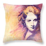 Marlen Dietrich 1 Throw Pillow by Yuriy  Shevchuk