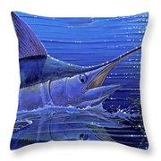 Marlin Mirror Off0022 Throw Pillow by Carey Chen