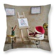 Marshmallow Masterpiece Throw Pillow by Heather Applegate