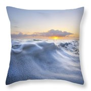 Marshmallow Tide Throw Pillow by Sean Davey