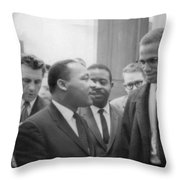 Martin Luther King Jnr 1929-1968 And Malcolm X Malcolm Little - 1925-1965 Throw Pillow by Marion S Trikoskor