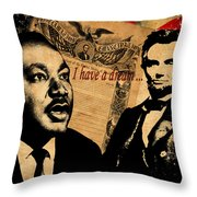 Martin Luther King Jr 2 Throw Pillow by Andrew Fare
