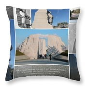 Martin Luther King Jr Memorial Collage 1 Throw Pillow by Allen Beatty