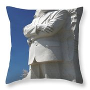 Martin Luther King Jr. Memorial Throw Pillow by Mike McGlothlen