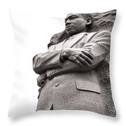 Martin Luther King Memorial Statue Throw Pillow by Olivier Le Queinec