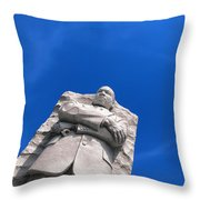 Martin Luther King Throw Pillow by Olivier Le Queinec