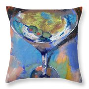 Martini Oil Painting Throw Pillow by Michael Creese