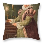 Mary Queen of Scots Throw Pillow by Sir James Dromgole Linton