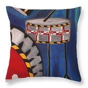 Maryland Drums Throw Pillow by Kate Fortin