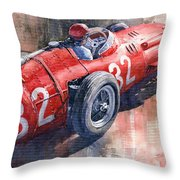 Maserati 250f J M Fangio Monaco Gp 1957 Throw Pillow by Yuriy  Shevchuk