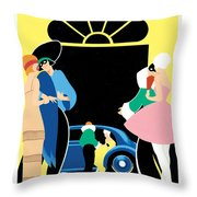 Masked Ball Throw Pillow by Brian James