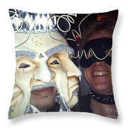 Masquerade Masked Frivolity Throw Pillow by Feile Case