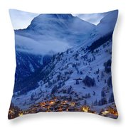 Matterhorn At Twilight Throw Pillow by Brian Jannsen