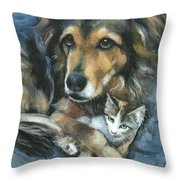 Maty and Lennox Throw Pillow by Mary Medrano