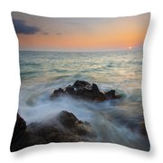 Maui Tidal Swirl Throw Pillow by Mike  Dawson