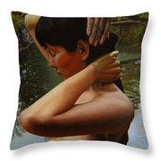May Morning Arkansas River 3 Throw Pillow by Thu Nguyen