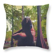 May Morning Arkansas River 5 Throw Pillow by Thu Nguyen