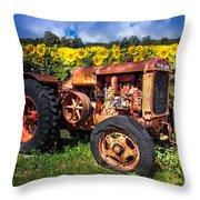 Mccormick Deering Throw Pillow by Debra and Dave Vanderlaan