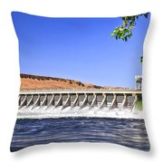 McNary  Hydroelectric Dam Throw Pillow by Robert Bales