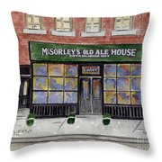 Mcsorley's Old Ale House Throw Pillow by AFineLyne