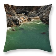 Mcway Into The Bay Throw Pillow by Adam Jewell