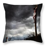 Me And Jesus Throw Pillow by Mark Spears
