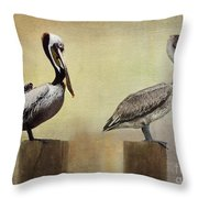 Me And My Missus Throw Pillow by Betty LaRue