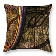 Me And My Shadow Throw Pillow by Debra and Dave Vanderlaan