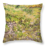 Meadow with Butterflies Throw Pillow by Vincent Van Gogh