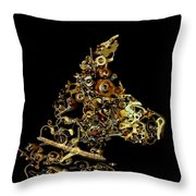 Mechanical - Dog Throw Pillow by Fran Riley
