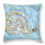 Mechanical - Snail Throw Pillow by Fran Riley