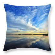 Meddybemps Reflections 4 Throw Pillow by Bill Caldwell -        ABeautifulSky Photography