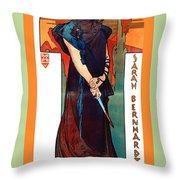 Medee Throw Pillow by Alphonse Maria Mucha