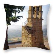 Medieval Campanile  Throw Pillow by Carlos Caetano