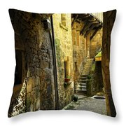 Medieval Courtyard Throw Pillow by Elena Elisseeva