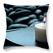 Meditation  Throw Pillow by Olivier Le Queinec