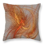 Medusa Bad Hair Day - Fractal Throw Pillow by Menega Sabidussi