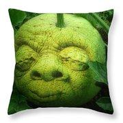 Melon Head Throw Pillow by Jack Zulli